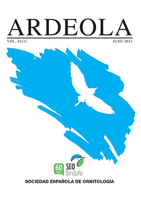 ARDEOLA: Volumen 61.1,Junio,2014